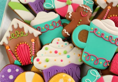decorated candy cookies and free kopykake template the