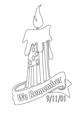 September 11 Coloring Pages we remember 9 11 01 coloring page free printable