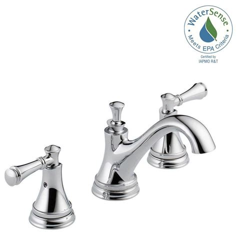 Ideas Delta Bathroom Faucets Delta Silverton 8 In Widespread 2 Handle Bathroom Faucet In Chrome 35713lf Eco The Home Depot
