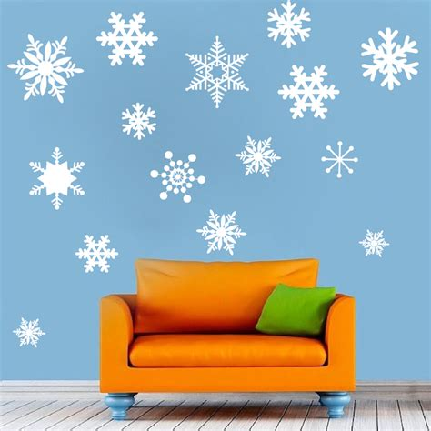 Blue Snowflake Wall Stickers