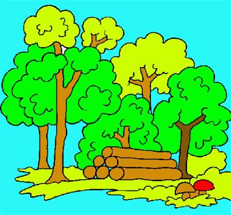 imagenes faciles para dibujar de la naturaleza dibujo de bosque pintado por naturaleza en dibujos net el