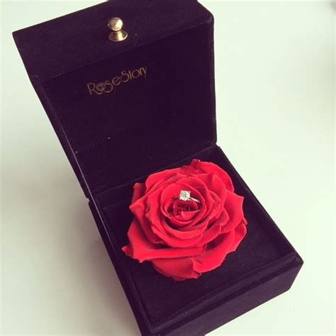 what a lovely idea preserved gift box ring just say yes i will