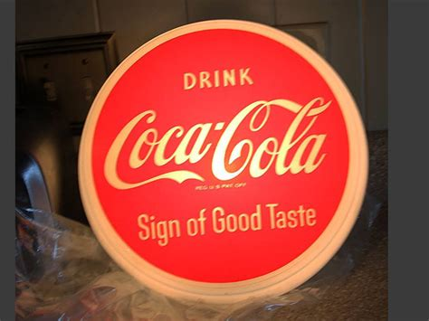 coca cola light up sign old advertising signs porcelain sign old coca cola
