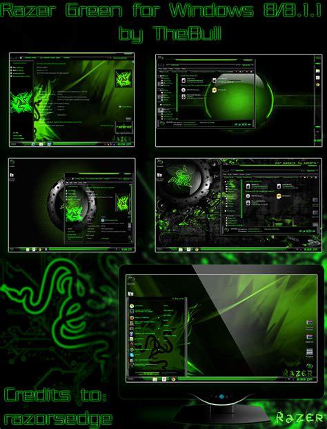 games themes for windows 8 1 free download razer green winows 8 8 1 1 theme by poweredbyostx on