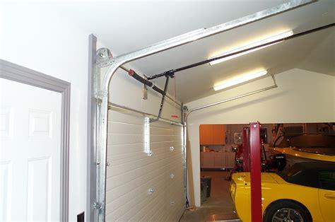 Raise Garage Door Tracks by Garage Door Mods For Lift Corvetteforum Chevrolet