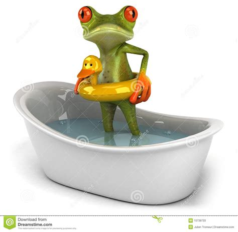 frog in bathtub frog in a bath stock photos image 10739733