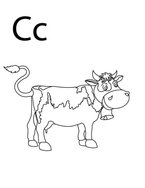 coloring pages letter c