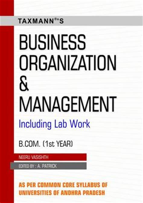 Mba Books Name by Business Organization And Management B Ist Year