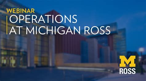 Operations Mba Programs by Careers In Operations Michigan Ross