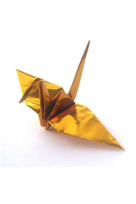 Gold Origami - 50 origami paper cranes in gold customized no crease on