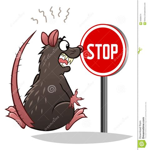 stop rats stock vector image 59586474