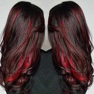 pictures of sapphire black hair with red highlights 17 best ideas about red highlights on pinterest red