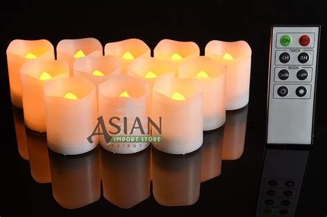 flameless led battery operated tea lights w remote