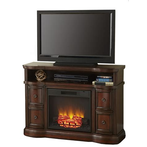 lowes electric fireplaces shop style selections 48 in w 4 800 btu mink wood fan
