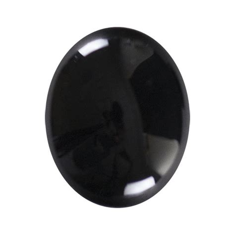 black onyx gemstone cabochon oval