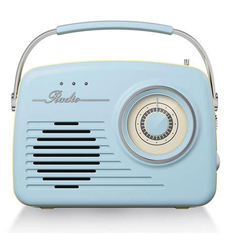 The Radio akai am fm retro radio blue at barnitts store uk
