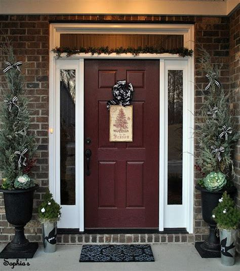Door Color For A Brick Home I Like This Better Than The Traditional Front Door Colors