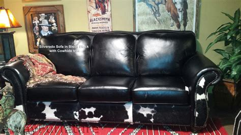 Made In Usa Leather Sofa Silverado Leather Sofa In Bison | silverado leather sofa in bison black and cowhide made in