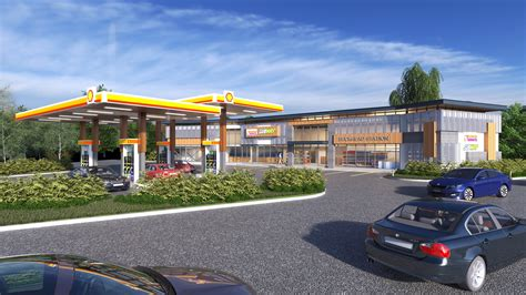 Parking Garage Design Layout the buckhead shell gas station from gas station to modern