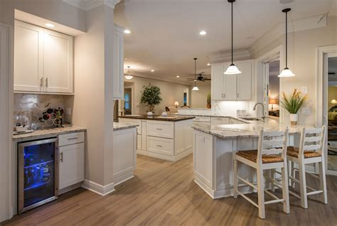 kitchen with island and peninsula kitchen island dining custom design semi custom cabinets