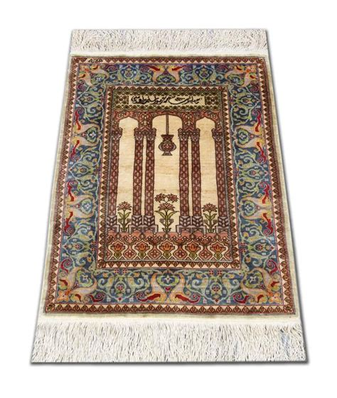 Small Turkish Rug by Silk Hereke Turkish Rug With Signature In Small Size For Sale At 1stdibs