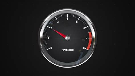 Rpm Meter Mobil revving speedometer and tachometer stock footage