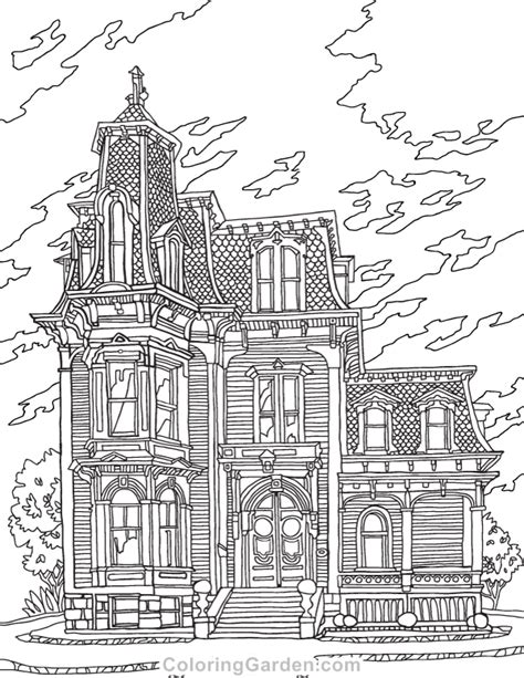 victorian house coloring pages free victorian house adult coloring page