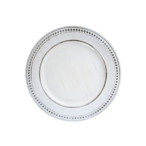 white beaded plates import 1270281 beaded white antique 14 quot charger plate