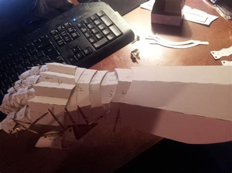 paper prototype gauntlet by gelgaroth on deviantart