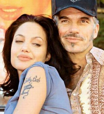 angelina jolie tattoo billy bob thornton angelina jolie hooking up with billy bob thornton but not