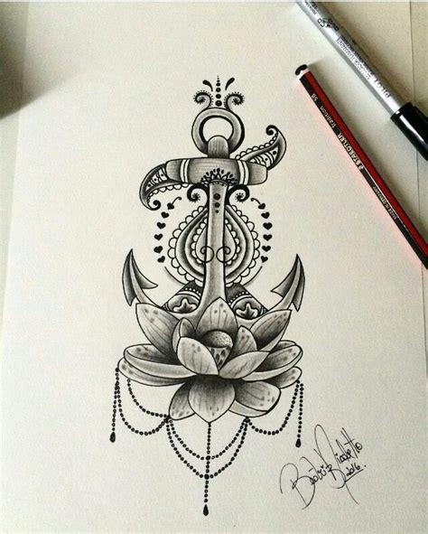 tattoo inspiration anchor 25 best ideas about anchor flower tattoos on pinterest