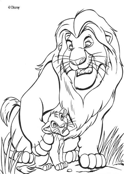 The Lion King Mufasa And Simba Coloring Pages Hellokids Com Mufasa Coloring Pages
