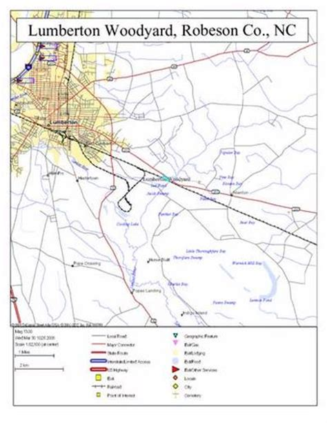 map of lumberton lumberton carolina 28358 acreage for sale on