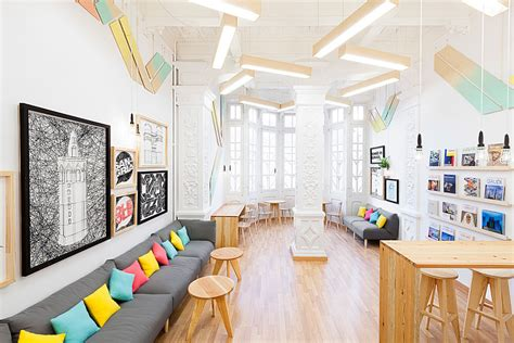Home Interior Design School Eye Catching Language School Design In Valencia By Masquespacio Freshome