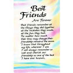 best friends are forever plastic wallet card by blue