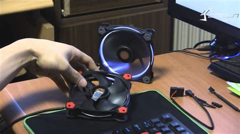 Thermaltake Riing 14cm Fan 256 Color Led Switch thermaltake riing 12 led