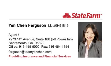 state farm business card template state farm business