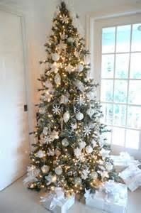 tree silver white: christmas tree white silver ornaments christmas pinterest
