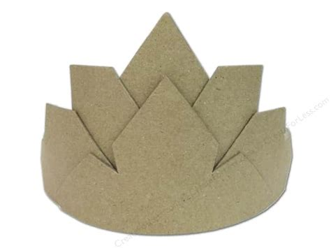 A Paper Crown - paper mache crown large by craft pedlers createforless