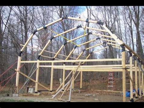 16 X 24 Garage Plans by Build A Garage Workshop Pole Barn House Youtube