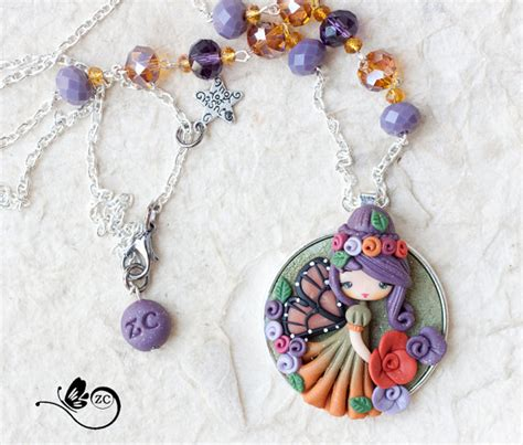 best clay for jewelry polymer clay necklace clay fimo zingara creativa