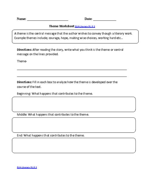 theme quiz 8th grade common core reading comprehension worksheets 8th grade