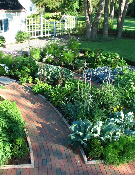 front yard vegetable garden potager garden traditional landscape chicago by