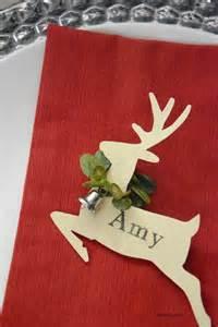 christmas place cards the idea room