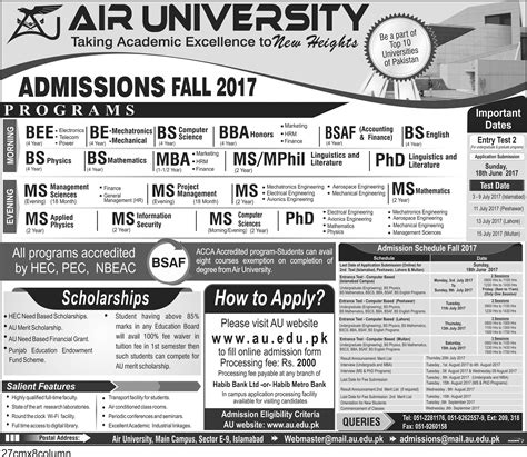 Ms Mba Admission 2017 by Au Air Admission 2017 Paperpks