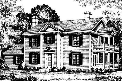 Colonial Houseplans by Colonial House Plans Rossford 42 006 Associated Designs