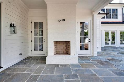 covering brick fireplace with ceramic tile fantastic covered patio features a white brick outdoor