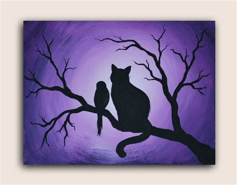 black cat painting designs painting canvas ideas for beginners home furniture and decor