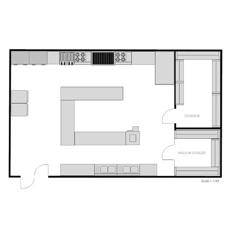 kitchen floor planner restaurant kitchen floor plan