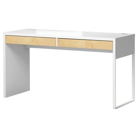 micke desk white birch effect ikea playroom office